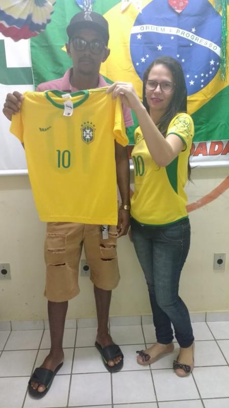 Sorteio das camisas do Brasil na Rádio Cidade FM 104,9
