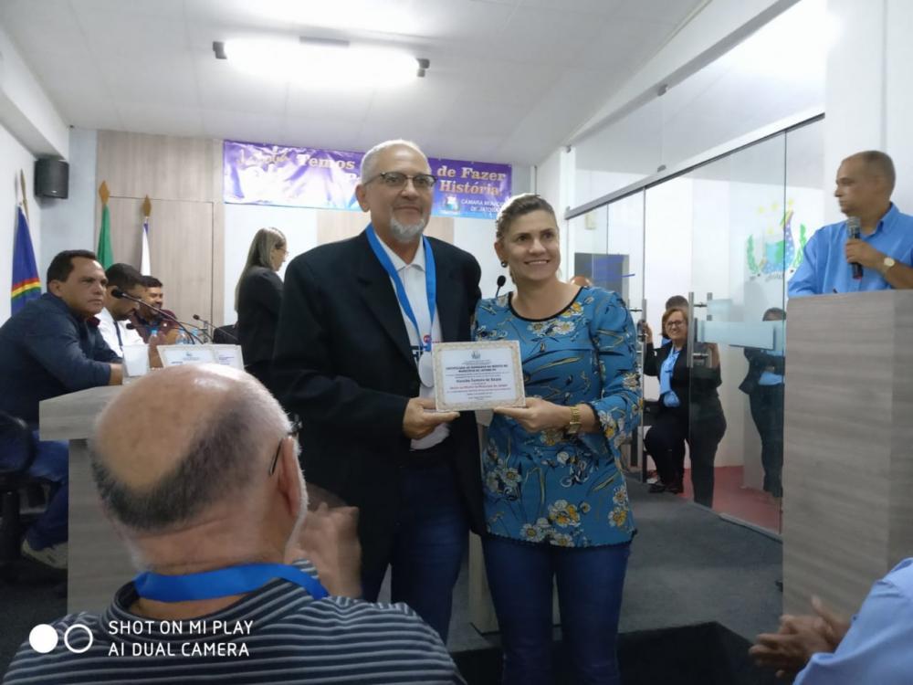 CÂMARA MUNICIPAL DE JATOBÁ FAZ HOMENAGEM AO DIRETOR PRESIDENTE DA RÁDIO SR. HAROLDO FERREIRA
